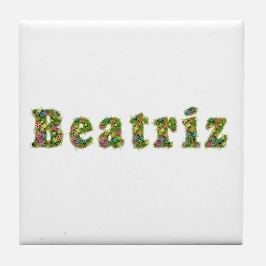 Beatriz Floral Tile Coaster