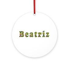Beatriz Floral Round Ornament
