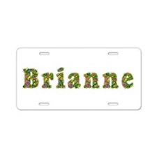 Brianne Floral Aluminum License Plate