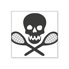 "Tennis Square Sticker 3"" x 3"""
