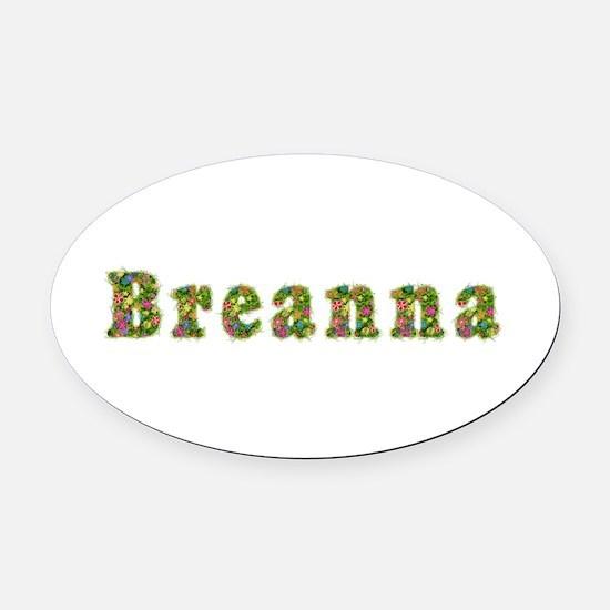 Breanna Floral Oval Car Magnet