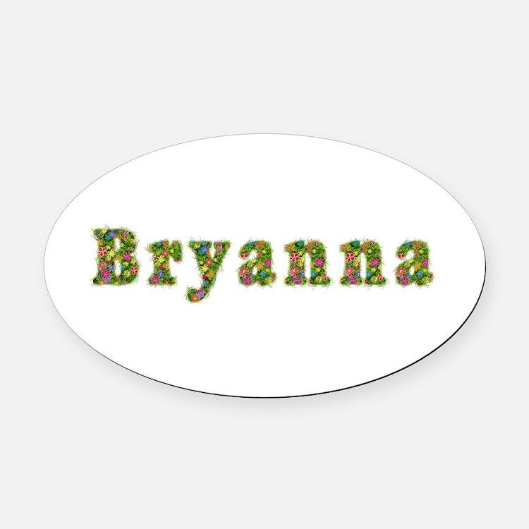 Bryanna Floral Oval Car Magnet