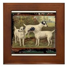 Antique Fox Terriers Framed Tile