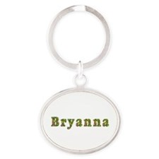 Bryanna Floral Oval Keychain
