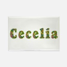 Cecelia Floral Rectangle Magnet