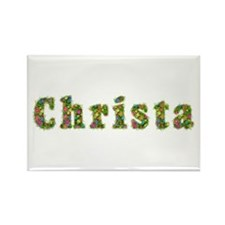 Christa Floral Rectangle Magnet