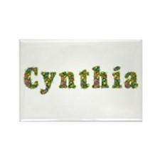 Cynthia Floral Rectangle Magnet