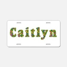 Caitlyn Floral Aluminum License Plate