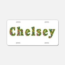 Chelsey Floral Aluminum License Plate