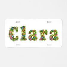 Clara Floral Aluminum License Plate