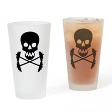 weight lifting Drinking Glass