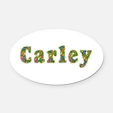 Carley Floral Oval Car Magnet