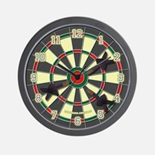 Dartboard Wall Clock Darted Version