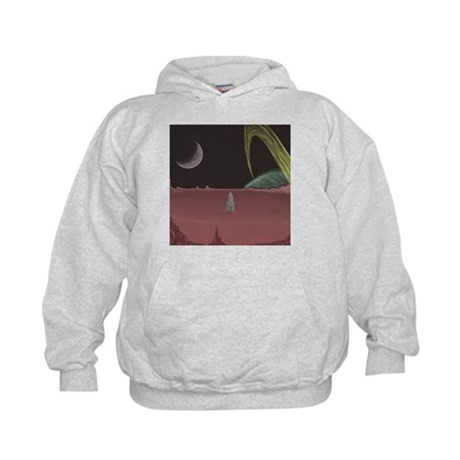 Space Ship on Planet Kids Hoodie