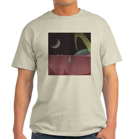 Space Ship on Planet Light T-Shirt