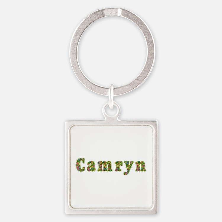 Camryn Floral Square Keychain