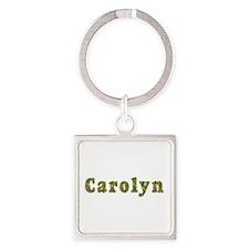 Carolyn Floral Square Keychain