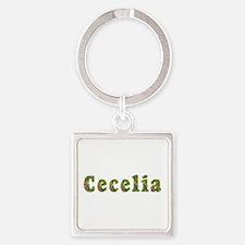 Cecelia Floral Square Keychain