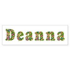 Deanna Floral Bumper Bumper Sticker