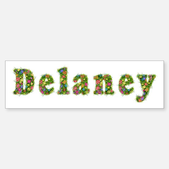Delaney Floral Bumper Bumper Bumper Sticker
