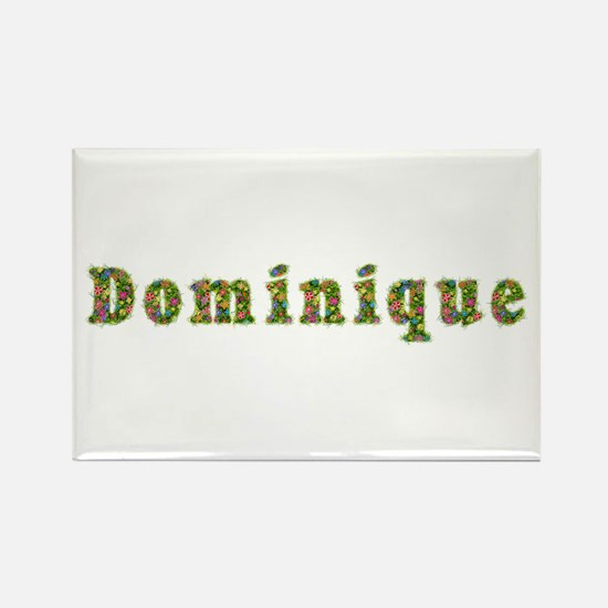 Dominique Floral Rectangle Magnet