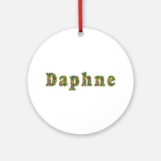 Daphne Floral Round Ornament