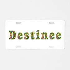 Destinee Floral Aluminum License Plate