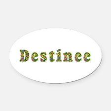 Destinee Floral Oval Car Magnet
