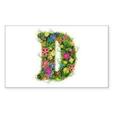 D Floral Rectangle Decal