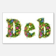 Deb Floral Rectangle Decal