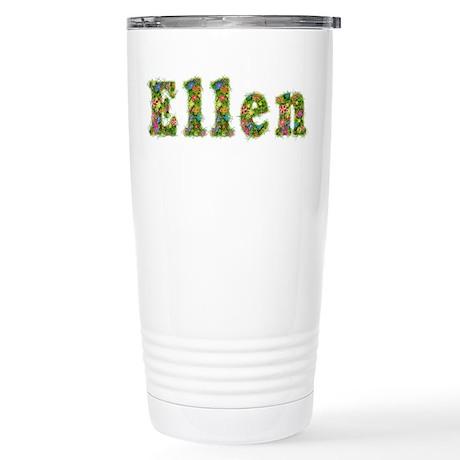 Ellen Floral Stainless Steel Travel Mug