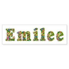 Emilee Floral Bumper Bumper Sticker
