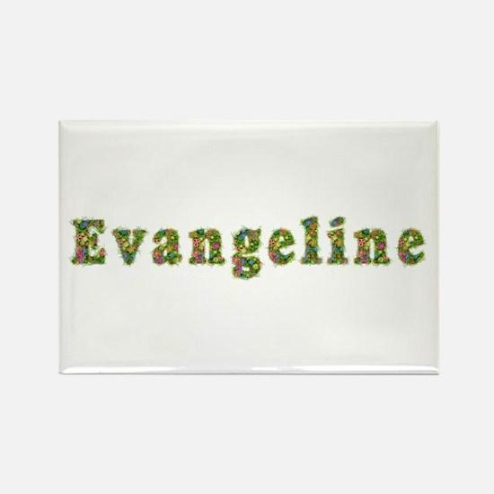 Evangeline Floral Rectangle Magnet