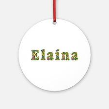 Elaina Floral Round Ornament
