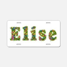 Elise Floral Aluminum License Plate