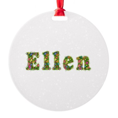Ellen Floral Round Ornament