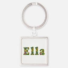 Ella Floral Square Keychain