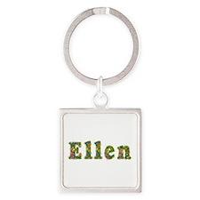 Ellen Floral Square Keychain