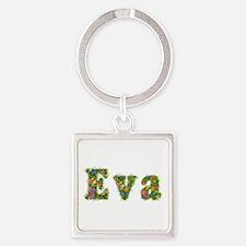Eva Floral Square Keychain