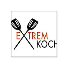 "Koch Square Sticker 3"" x 3"""
