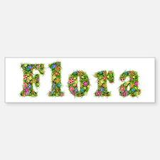 Flora Floral Bumper Bumper Bumper Sticker