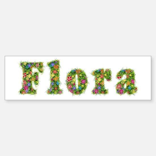 Flora Floral Bumper Car Car Sticker