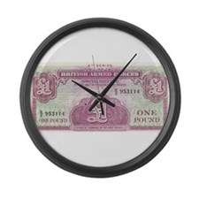 British Armed Forces 1 Pound v1 Large Wall Clock