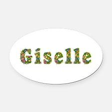 Giselle Floral Oval Car Magnet