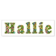 Hallie Floral Bumper Car Sticker