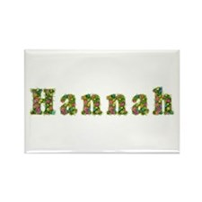 Hannah Floral Rectangle Magnet