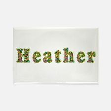 Heather Floral Rectangle Magnet
