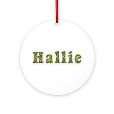 Hallie Floral Round Ornament