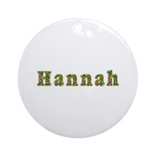 Hannah Floral Round Ornament
