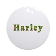 Harley Floral Round Ornament